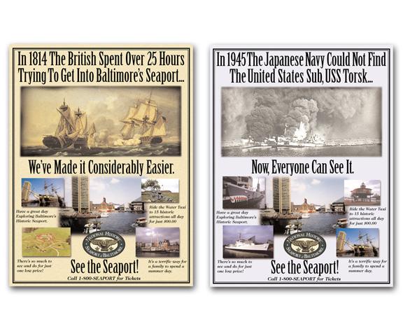Baltimore Seaport Ads