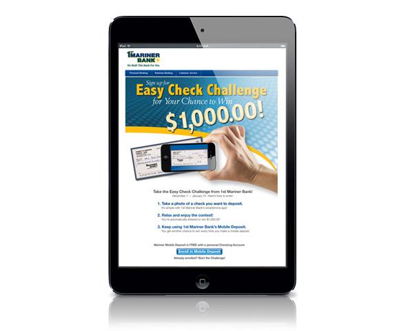 1st Mariner Bank – Checking Landing Page